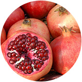 fruit material pomegranates