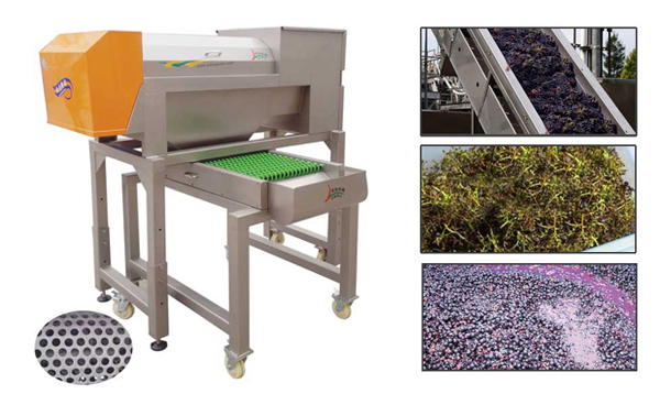grape destemmer crusher