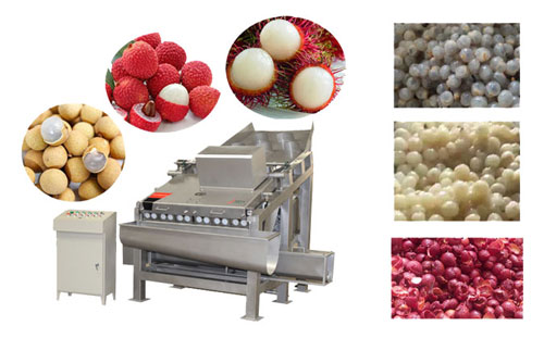 litchi and longan peeling machine