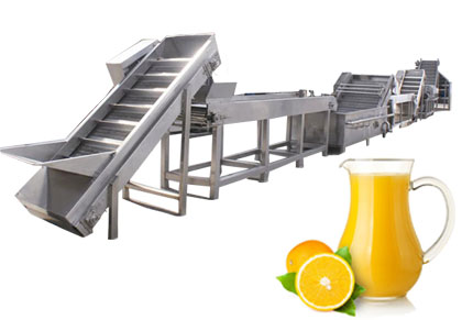 Orange juice production line