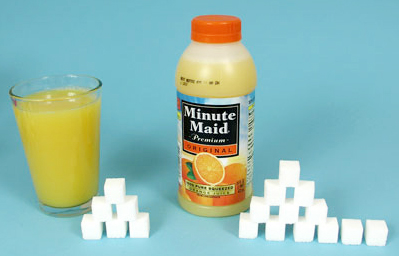 sugar content in orange juice